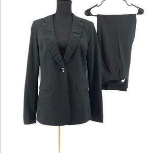 Cabi Black Pinstripe Blazer and Trousers Set